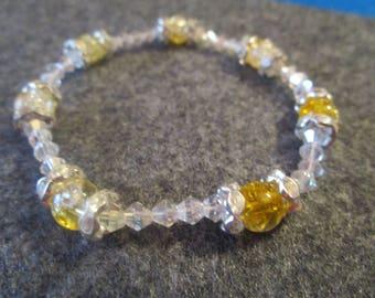 Glass Bead Bracelet. Elastic.