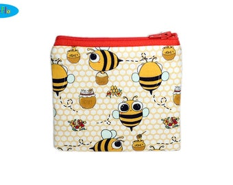 NEW! Bee Coin Purse | Honey Change Wallet | Kawaii Zip Bag