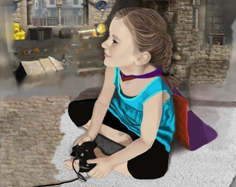 Gamer Girl- Canvas Print