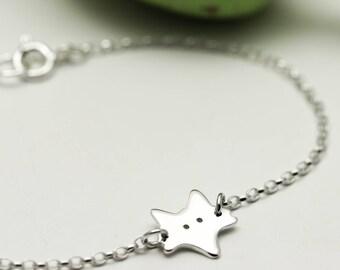 Sterling Silver Fox Bracelet - Fox Gifts - Animal Jewellery