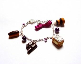 Pastry chocolate bracelet