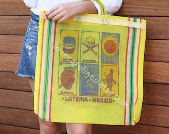Mexican Market Bag (Reusable Bag Cute Farmers Market Tote Beach Bag Mexican Mercado Bag Shopping Bag Gift for Her Eco Recyclable Recycle)