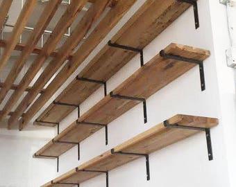 Steel Shelf Bracket - Modern Kitchen Open Shelving, Iron Shelf Bracket, Industrial Kitchen Brackets, Metal Shelf Brackets, Custom Shelving