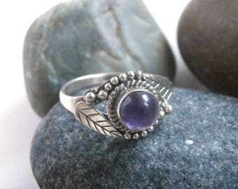 Amethyst Ring - Vintage Jewellery - Sterling Silver Rings For Women