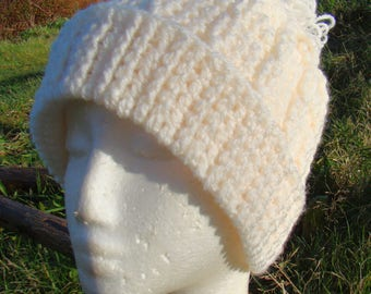 Crochet Cable Stitch Winter Hat