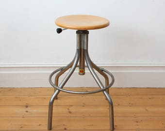 Vintage French Industrial stool from Bad