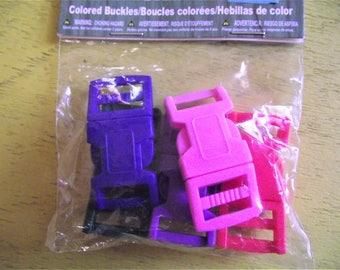 BUCKLES,SNAPS,CLOSURES,Parachute Cord Bracelet Buckes,5 pc Buckles Set,Plastic Snap Buckes,Multicolor,15mm Buckles,Survival Bracelet