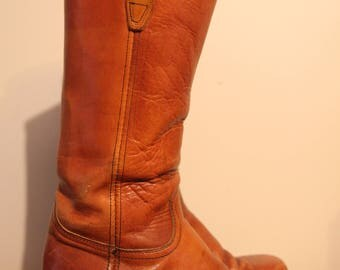Excellent Cond'tn Broken-In Leather DURANGO WEST Square Toed Ranch Boots-9D