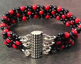 Red and Black Unisex Bracelet