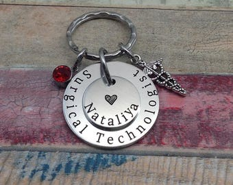 Surgical Tech Gift, Surgical Technologist, Surgical Technician Gift, Surgical Graduation Gift, Surgery Profession Key ring, Surgical Tech