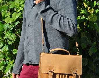 Messenger bag, crossbody bag, leather laptop bag, vintage leather bag, mens croossbody, laptop bag women, briefcase men, briefcase women