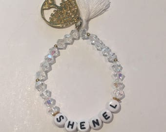 Personalised bead bracelet - handmade Swarovski beaded charm bracelet - personalised to your preference
