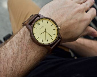 Wood Watch, Personalized Wooden Watch, Engraved Wood Watch, Mens Wooden Watch, Wooden Watch