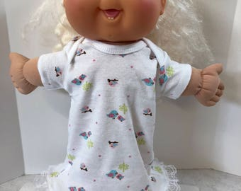"Cabbage Patch Baby Clothes - 14 inch Doll Clothes, Cute Pink and Blue ""MOMMY & Baby BIRD"" Nightgown, Cabbage Patch 14 inch BABY Clothes"