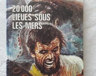 Jules Verne - Twenty Thousand Leagues under the Sea - 70s French Book - Éditions du Bois de Boulogne Paris - 20000 lieues sous les mers