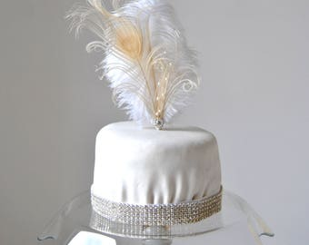 ostrich feather wedding cake 1920s cake topper etsy 18072