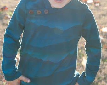 Merino Shirt - Baselayer Shirt - Mountain Shirt - Toddler Boy Shirts - Wool Kids Clothing - Wool Shirt - Mountain Shirt - Wool Tee - Waldorf
