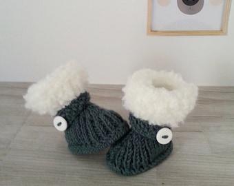 slippers baby knitting