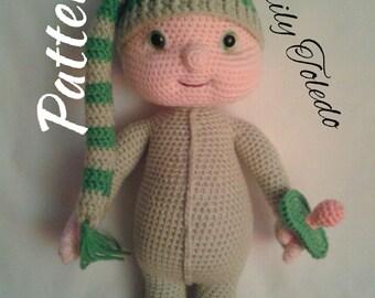 PATTERN - Baby Boy Benjamin - Crochet Amigurumi Pattern