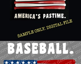 BASEBALL SVG FILE. Americas Pastime Svg. Baseball Shirt. Baseball Decal. Svg File for Cricut.