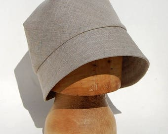 Handmade French hat| Linen bucket hat|Summer cloche hat| French linen hat| Asymmetric summer hat| Linen cloche hat| ZUTkiki pure linen hat