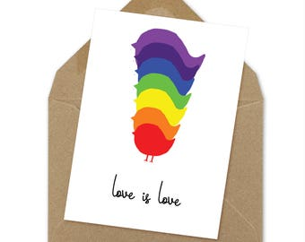 love is love printable card | A6