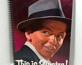 Frank Sinatra This Is Sinatra Album Cover Notebook Handmade Spiral Journal