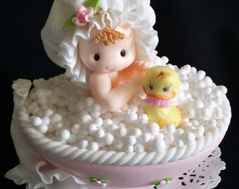 Eight 8 Baby Chick Duck Cake Toppers Decoration Birthday Baby