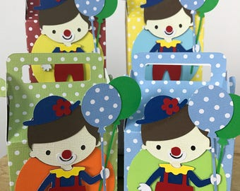 Boy Clown Favor Box