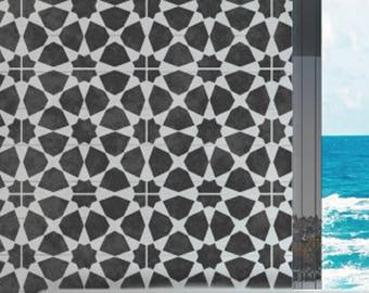 AMIRA TILE Stencil - Moroccan Mosaic Tile Furniture Floor Wall Tile Craft Stencil - AMIR02
