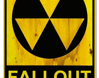 """Fallout Shelter Vintage Looking Apocalyptic Metal Sign 12""""x 18"""" .040 Aluminum RG6824"""