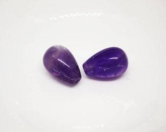 2 Amethyst beads pear shape (om.ed REF.)