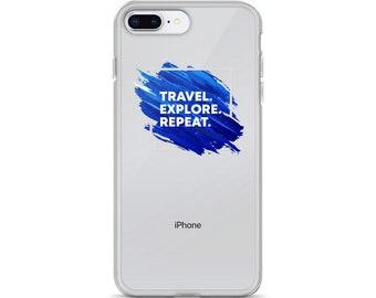 Travel. Explore. Repeat. iPhone Case