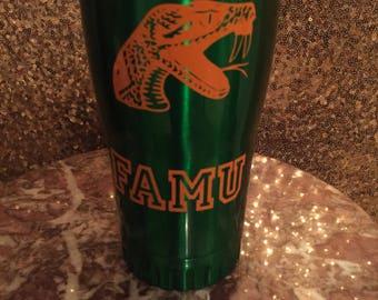 Custom FAMU tumbler