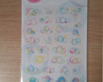 Bubbles Stickers Scrap book Card Making Crafting