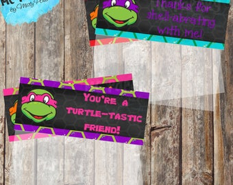 Printable Ninja Turtle Birthday Treat Bag Toppers - YOU PRINT
