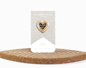 Love All Enamel Pin // Hard Enamel Cloisonné