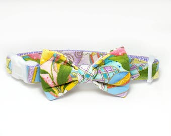 Easter Dog Collar Bow Tie set, pet bow tie, collar bow tie, wedding bow tie