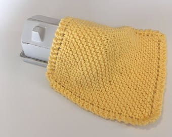 Large Farmhouse Washcloth - Grandma's Favorite Washcloth - Yellow Dishcloth - Knit Washrag -  Tunisian Dishcloth - Spa Cloth - Facecloth