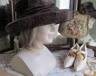 Sophisticated vintage Viv Knowland faux fur hat~Absolutely gorgeous millinery-Even Princess Diana wore her hats!