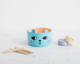 Cute little plant pot, succulent planter, handmade planter, pen pot, small plant pot, cactus pot, super cute planter,folk decor, ceramic pot