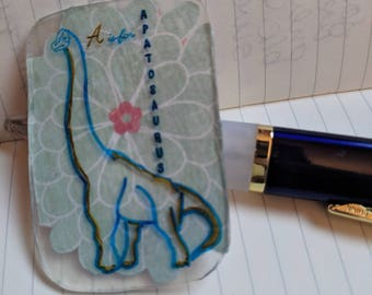 A is for Apatosaurus Brooch