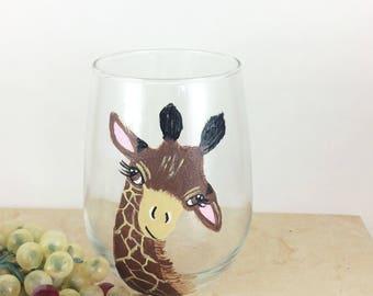 Giraffe Wine Glass, Giraffe Lover Gifts, wine lover gift, Best selling Items, Best wine gift, Giraffee Glasses, drinking glasses,  stemless