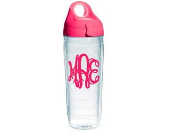 Tervis water bottle. Personalized 24 ounces with lid.