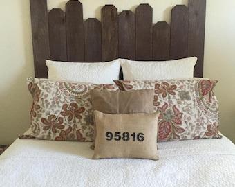 Burlap Zip Code Pillow