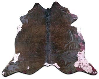 natural cowhide rug size 75 x 7 ft red acid washed cowhide rug g