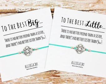 Silver Celtic Knot Big Little Sorority Bracelet (Single or Set) | Sister Gift | Big Sister, Little Sister | Sorority Reveal Gift Jewelry