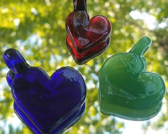 Hearts of Glass Pendants