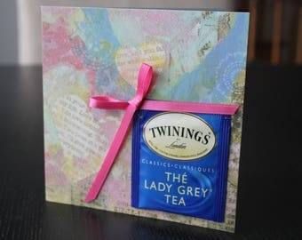 Love Teabag Tea Bag Card  Birthday Anniversary Thinking of You