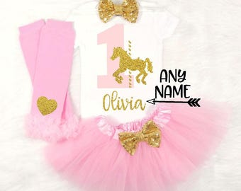 carousel first birthday outfit pink and gold carousel birthday pink and gold carousel first birthday outfit baby girl first birthday outfit